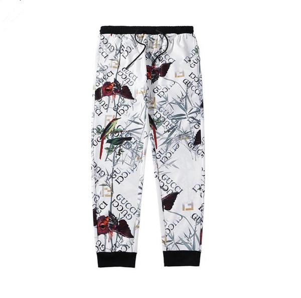 Versão internacional mais recente dos homens calças Seiko carta bordado algodão Moda calças Sportswear Lazer Micro-bomba de impressão 3D Eco-frien
