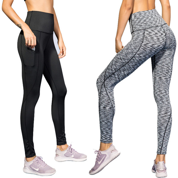 fdd2ad0916a495 New Yoga Pants With Pocket Tights Woman Sports Fitness Push Up Gym Woman  Sportswear Yoga Leggings