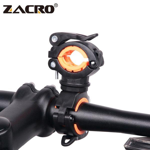 Zacro Multifunction Bike Bicycle Flashlight Holder 360 Degree Rotation Torch Mount LED Head Front Light Holder Clip for MTB Bike #25285