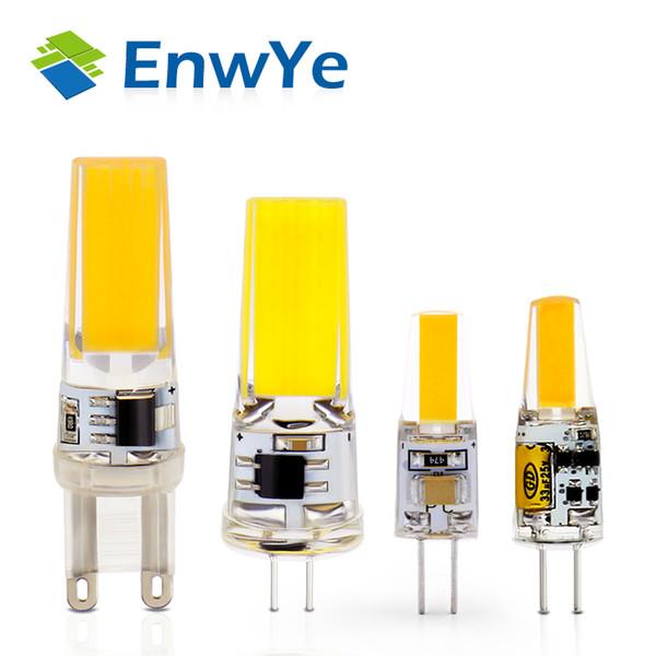 EnwYe AC/DC 12V 220V Bulb 3W 6W G4 G9 LED Lamp Bulb dimmable COB SMD LED Lighting Lights replace Halogen Spotlight Chandelier
