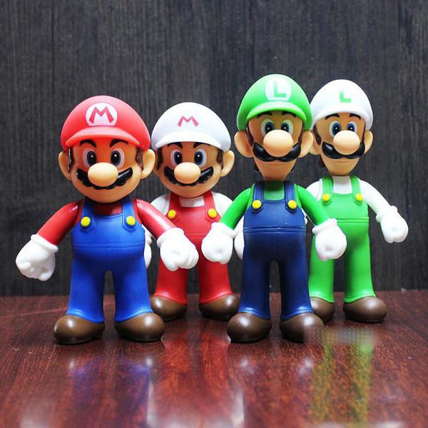 7 Style Super Mario Bros toy Cartoon game Mario Luigi Yoshi princess Action Figure Gift For Kid toys