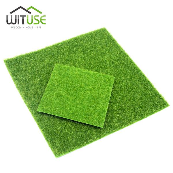 2 Sizes Creative Micro Landscape Fake Artificial Moss Grass Landscape Home Ornament Aquarium Decoration Artificial Grass Garden C19041302