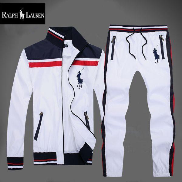 New Men's Sweatshirts Sportswear Man Jacket pants Jogging Jogger Sets Turtleneck Sports Big horse Tracksuits Sweat Suits Free shipping