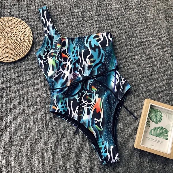 FDBRO 2019 New Monokini String Sexy Femminile Costume da bagno One Piece Body Snake Print Costumi da bagno Donna Bikinx High Cut Bikini Perizoma Libera La Nave