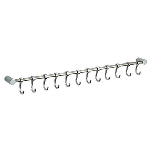 12 Ganchos Utensilio de cocina Armario Colgante de pared Rack Rail Soporte de baño Herramienta