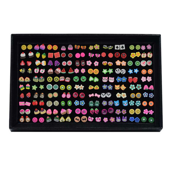 100 pairs Animal Stud Earrings Sets Kids Girl Cute Birthday Christmas Gift Set