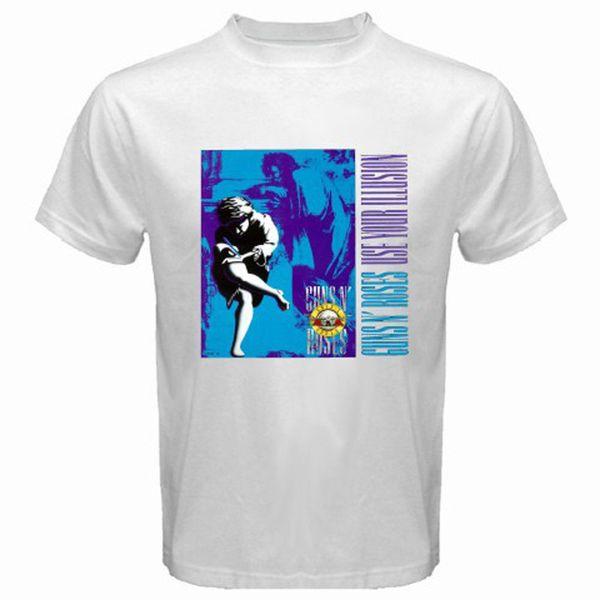 GUNS N' ROSES Rock Band Legend Men's White T-Shirt Tees Custom Jersey hoodie hip hop t-shirt jacket croatia leather tshirt