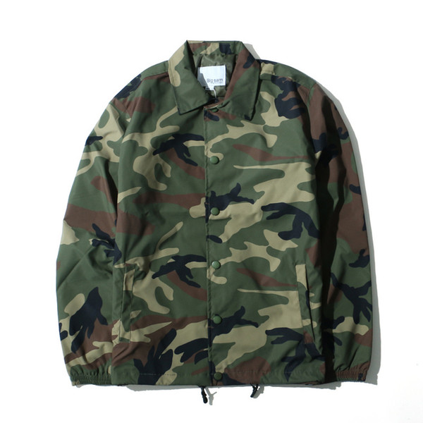 Kanye West Fashion Season2 Camouflage Coaches Jackets Men USA Army Pilot MA1 Oversize Coats Men Outwear 2019
