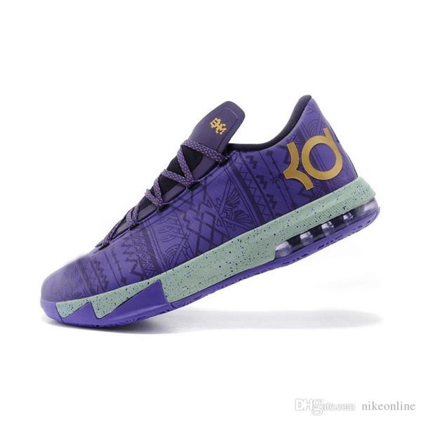 Barato Hombres lo que el KD 6 vi low tops zapatillas de baloncesto Tía Perla Rosa BHM MVP Azul Dorado Floral Kevin Durant KD6 zapatillas botas kds para la venta-