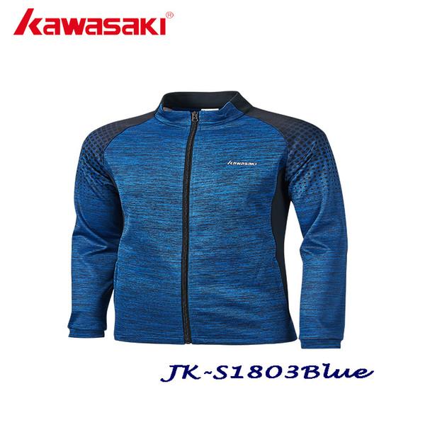 Kawasaki otoño hombre chaquetas deportivas poliéster gimnasio gimnasio tenis chaqueta transpirable de secado rápido gris JK-S1803