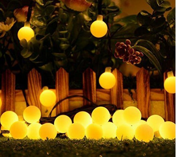 Solar String Light Pingpong 30-LED 6-meter Solar lamp waterproof for Christmas Wedding New year Party Carnival Cafe Bar gardens SS161