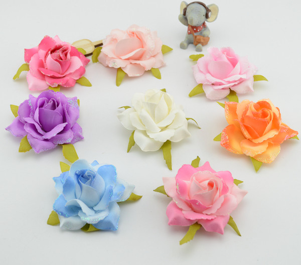 Freies Verschiffen 5pcs / lot preiswerte künstliche Blumen Geschenk dekorative Hochzeit Blumendekoration Rose Handgelenk Blume Simulation Blumen