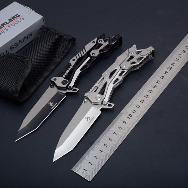 JL Mécanique 16011 Couteau Pliant Tactique Full Steel Camping En Plein Air Chasse Survie Poche EDC Outils 57HRC Sauvetage Utilitaire Couteau