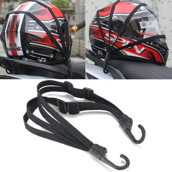 Universal Protective Gears 60cm Motorcycle Luggage Strap Fixed Elastic Buckle Rope Motorcycle Helmet High Strength Retractable Motorcycle Half Helmets