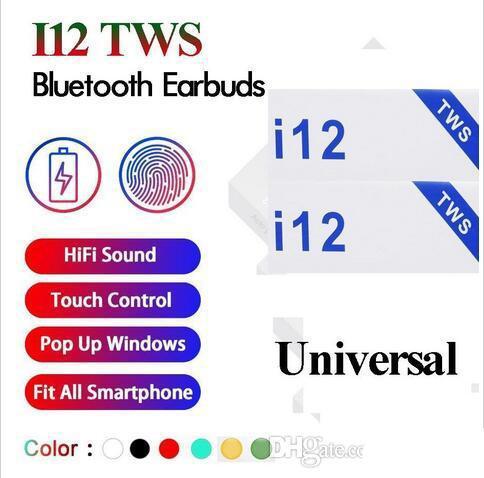 I12 tw bluetooth 5 0 wirele headphone upport pop up window earphone colorful touch control wirele head et earbud