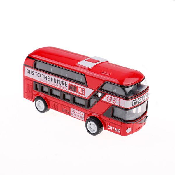 Araba Modeli Çift Katlı Londra Otobüs Alaşım Döküm Araç OyuncaklarDekorasyon Çocuklar Oyuncak Hediye Boys Için