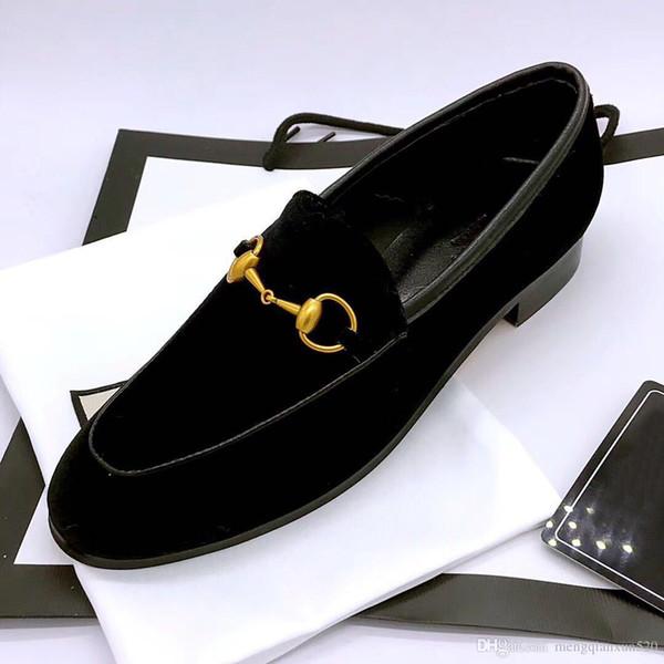 Couro genuíno e sapatos baixos 2018 primavera e outono temporada de metal fechos marca sapatos femininos homens e mulheres de salto simples designer único