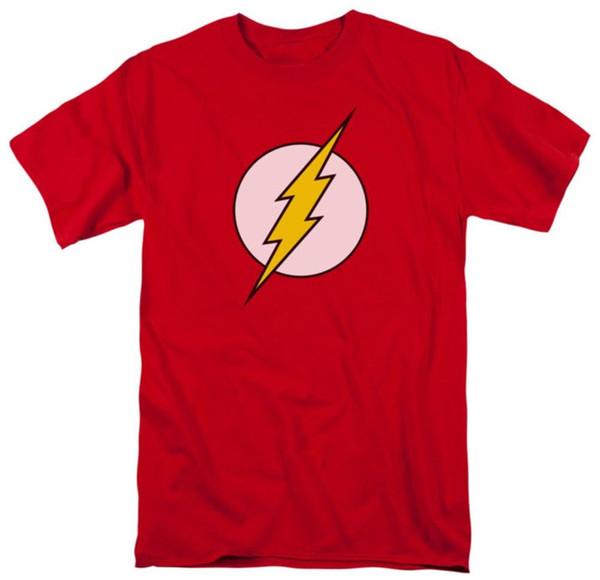 Das rote T-Shirt der DC-Comics-Blitz-Logo-Männer