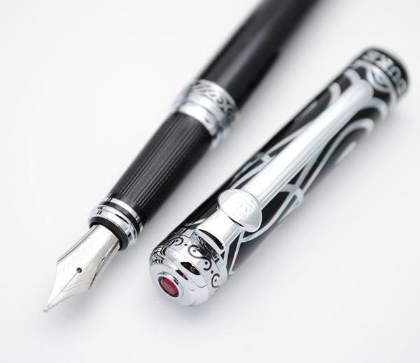 Duke RubyFountain Pen Elegante e lussuosa penna inchiostro M pennino scatola originale