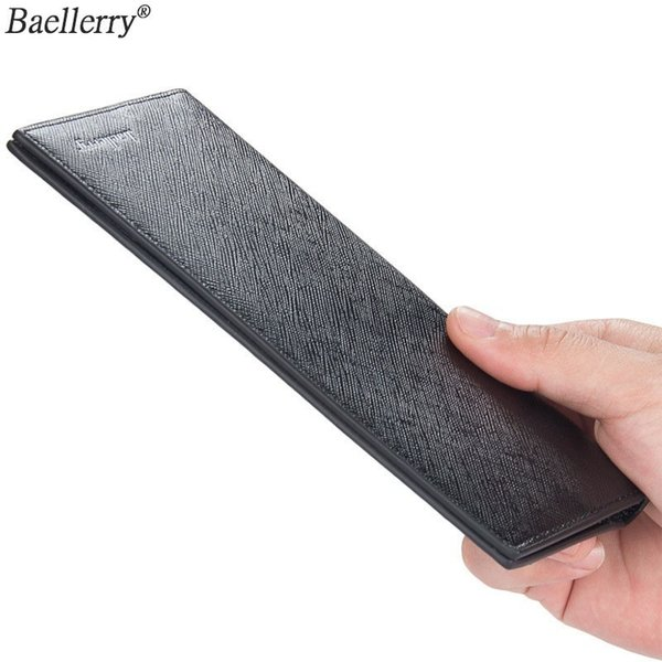 Baellerry Casual Slim Mens Wallet Of Leather Soft Male Clutch Money Bag Small Pocket Man Purse Thin Wallet Luxury Famous