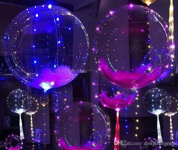 DLM2 Palloncino a LED a led linea palloncino stringa palloncino con luce colorata 2020 Decorazione per Fastive Party Natale Forniture di Halloween wn355