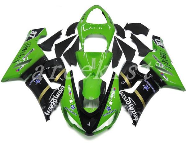 Neue ABS-Verkleidungs-Kits passen für Kawasaki Ninja 636 ZX-6R ZX6R 05 06 2005 - 2006 ABS-Plastik-Motorrad-Karosserie-Gewohnheit grünes cooles