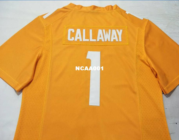 new product e1e59 8626e 2019 Men Tennessee Vols Marquez Callaway #1 Real Embroidery Alumni College  Jersey S 4XLor Custom Any Name Or Number Jersey From Ncaa001, $16.45 | ...