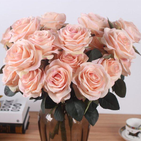 Il francese Rose Floral Bouquet Fake Flower organizza il tavolo Daisy Wedding Flowers Decor Party