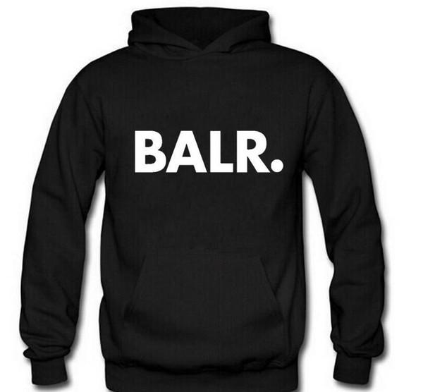 Männer BALR Printed Fleece Pullover Frühlings-Herbst-Winter lang Sleeved mit Kapuze Oberseiten-beiläufige Hip Pop Pullover Punk Herren Sportswear Sweatshirt