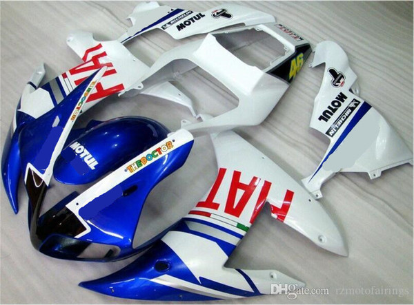 High quality New ABS motorcycle fairings fit for YAMAHA YZF-R1 2002 2003 R1 02 03 YZF1000 fairing kits cool white blue