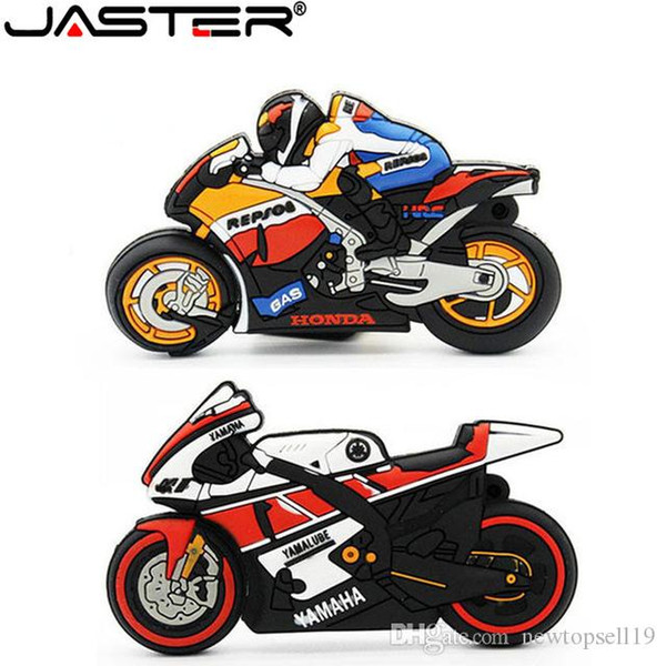 High quality Cartoon motorcycle usb flash drive 64gb 32gb 16gb real capacity memory stick motorbike pen drive lovely gift pendrive