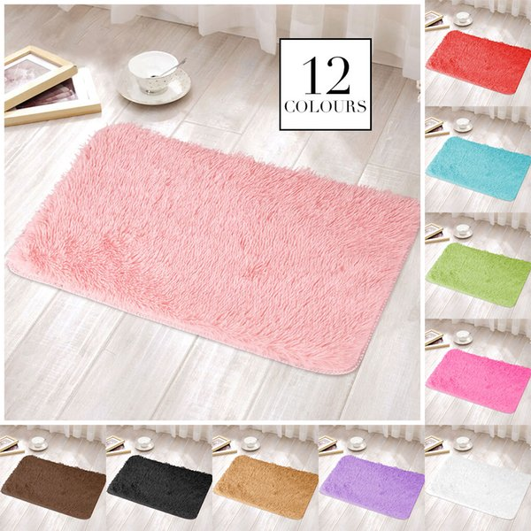 Полиэфирное волокно разноцветные гостиной коврик диван ковер пушистые коврики спальня украшения коврик Теплый дом 50x80 см
