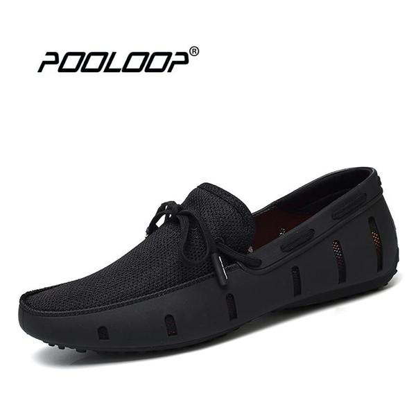 Compre POOLOOP Duradero Para Hombre Mocasines De Encaje SWIMs Zapatos Casuales De Playa Transpirable Zapatos De Conducción Para Hombres Mocasines De