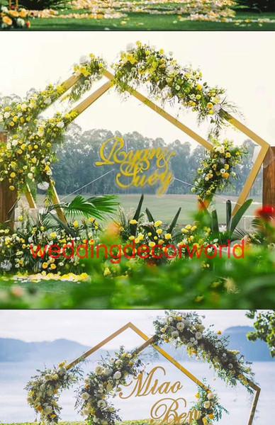 Nouveau style canopée forme ronde or mental Pipes, décoration de scène de mariage scène de mariage decor0644