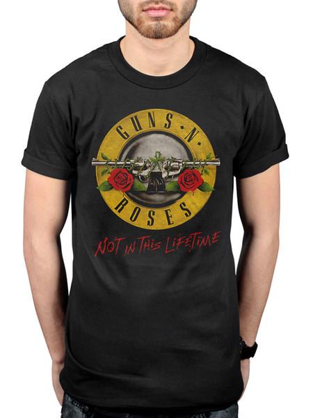 T-shirt officiel de Guns N Roses faisant partie de cette tournée de la vie de Paradise City, T-shirt pour adultes de la guerre civile en coton