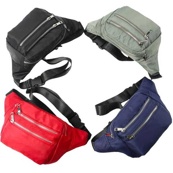 Durable unisex fanny pack sports leisure waistpacks men women travel phone wallet storage bum pack 4 solid colors