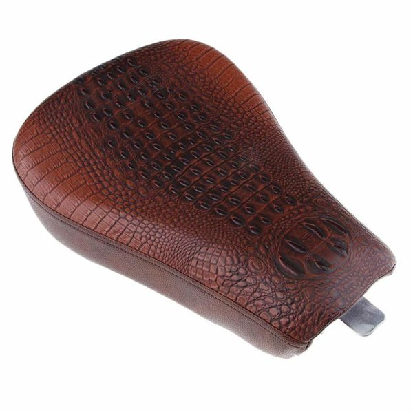 Brown Crocodile Skin Style Front Driver Solo Seat Cushion for Sportster Forty XL1200 883 72 48