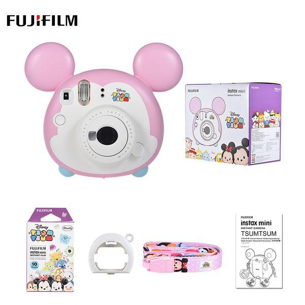 Christmas Gift Instax Mini TSUMTSUM Instant Film Camera w/10 Sheet Film Close-up Lens Strap Auto Metering Selfie Mirror