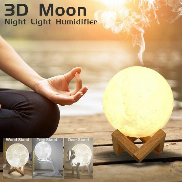 880ml Grande umidificatore Aroma olio essenziale Il diffusore Per la casa 3D LED Moon Light USB Aromaterapia Diffusore Drop Ship
