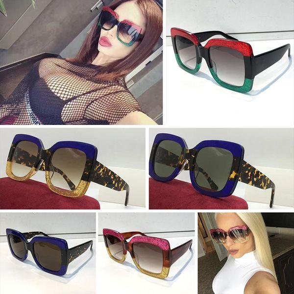 7822e36282b gucci gg0083 Óculos de sol 0083 Mulheres Marca Designer 0083S Estilo  Quadrado de Verão Quadro Cheio