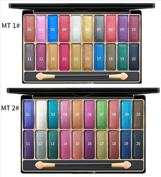 3D Shiny 20-Color Wet Eyeshadow Palette Professional Makeup Kit Popular Color Combination 27g