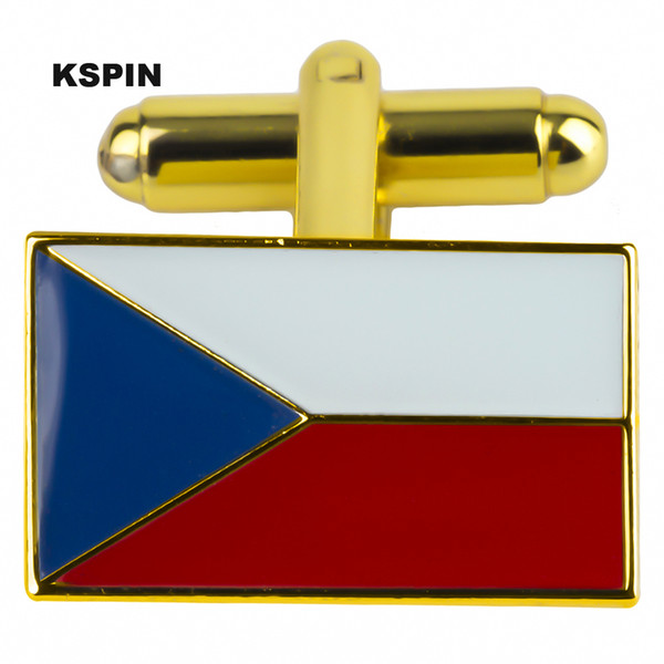 República Checa Gemelos Solapa Pin Bandera Insignia Pasadores de solapa Insignias Broche XY0385 - C-G