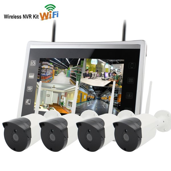 "Yobang Security 12""Monitor Wireless Security CCTV System Outdoor 960P IP Camera WIFI Waterproof Video Surveillance CCTV NVR Kit"
