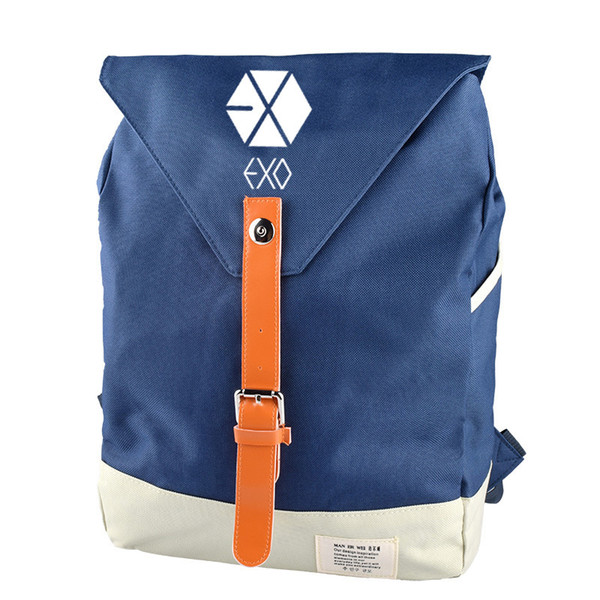 School Bags For Teenage Girls EXO Korean Version Of The Backpack Fashion Couple Student Leisure Backpack Women Backpacks 2019