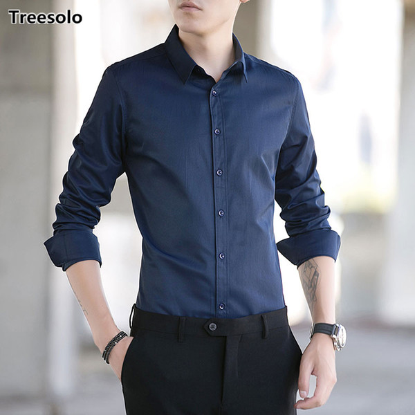 Hot Sell formal shirts for men Casual Shirts Plus Size Spring autumn male social shirt camisas hombre vestir Dropshipping 806
