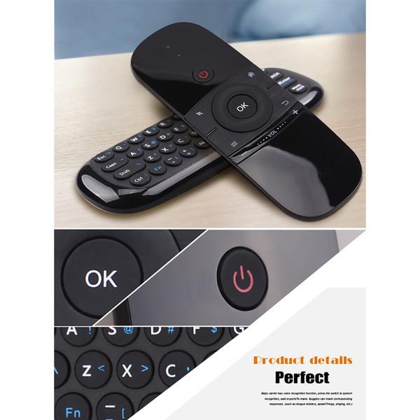 Wechip W1 2.4G Kabellose Tastatur und Air Mouse Doppelseitige kabellose somatosensorische Mini-Tastatur-Maus-Fernbedienung