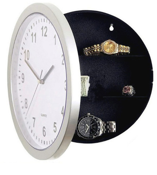 Battery Clock Case Jewelry Hidden Storage Safe Deposit Box Originality Hiding Money Casket Hidden Form Decoration Insurance Hot Sale 18wyb1