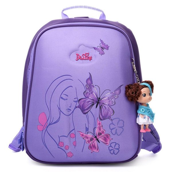 Authentic Delune New 3D cartoon children school bags for girls printing backpack children Customized design child schoolbag