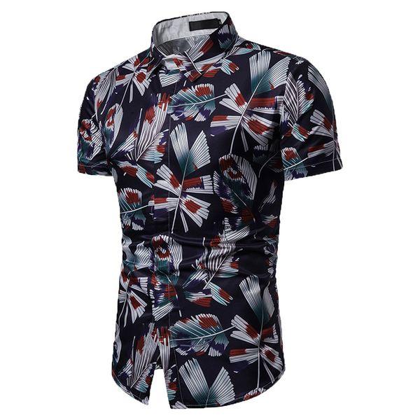 Mens Hawaiian Shirt Male Casual camisa masculina Printed Beach Shirts Short Sleeve Summer men clothes 2019 Asian Size Apr19