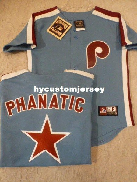 Pas cher personnalisé MAJESTIC Philadelphia PHANATIC Cousu THROWBACK Vintage Jersey Hommes Maillots Piqués Big And Tall TAILLE XS-6XL à vendre